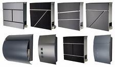 Designer Briefkasten Mailbox Zeitungsfach  Edelstahl  anthrazit  schwarz  weiß