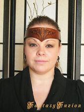Medieval Celtic Tribal Tattoo-Style Leather Headband Crown Tiara
