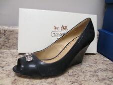 Coach Thea Peep Toe Platform Heel Black New with Box