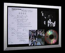 THE DOORS People Are Strange LTD QUALITY CD FRAMED DISPLAY+EXPRESS GLOBAL SHIP!!