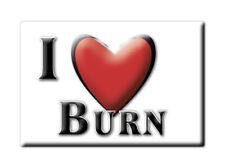 SOUVENIR UK - ENGLAND FRIDGE MAGNET UNITED KINGDOM I LOVE BURN (NORFOLK)