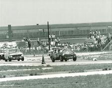 Vintage 8 X 10 1969 Sebring MGB & BMW 2002 Auto Racing Photo