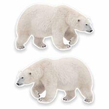 2 x Polar Bear Vinyl Sticker Car Travel Luggage #9646