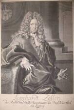 c1710 Leonhard Zoller Leipzig Kupferstich - Porträt von Bernigeroth