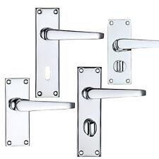 Door Handles Victorian Straight Latch Lock Bathroom Privacy Door Handles Sets