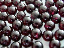Vintage untreated gem quality Garnet 7mm half drilled round beads DIY Earrings