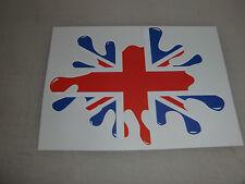 Union Jack paint splat sticker / decal - UK GB FLAG