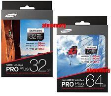 Samsung Pro Plus 32GB 64GB 128GB Micro SD SDHC SDXC 95MB/s Class 10 4K UHD Card