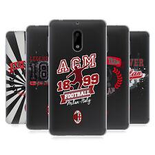 Oficial AC Milan 2018/19 adolescentes caso De Gel Suave Para Teléfonos Nokia 1