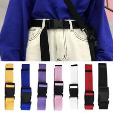 Fashion Unisex Waist Belt Mens Womens Plain Webbing Waistband Casual Canvas Belt