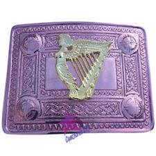 Men's Irish Celtic Harp Kilt Belt Buckle Copper Antique/Celtic Kilt Belt Buckles