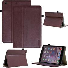 Premium cuero cover para Apple iPad/Samsung Galaxy Tab + lámina protectora adecuada
