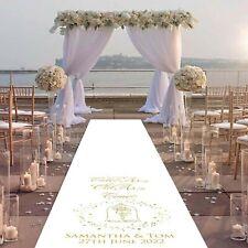 Personalised WEDDING AISLE RUNNER Church/Venue Decoration Wedding Decor