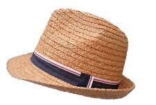 Uomo bambini weichesnaturstrohhut Trilby PIEGHEVOLE Cappello da sole vacanza