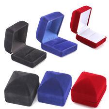 Square Engagement Velvet Jewelry Box Ring Organizer Display Storage Case Holder
