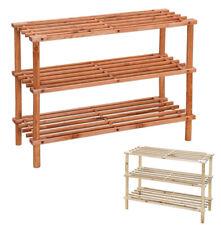 Scarpiera scaffale legno 3 ripiani ingresso esterno salvaspazio 63x26,5x48cm
