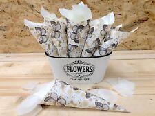 Conos de papel para pétalos arroz detalles de Boda 25 unidades montados