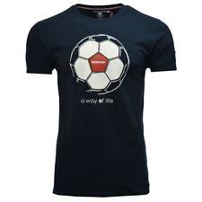 Lambretta Para Hombre Fútbol/Inglaterra Camiseta a la moda SS 3806 - azul marino