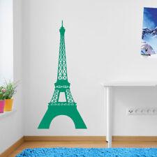 Torre Eiffel Parigi Muro Finestra Adesivi Decalcomanie in vinile arredamento colorato A126