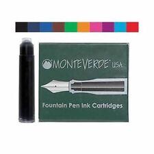 6 x International Standard Size Fountain Pen Ink Cartridges,Monteverde,12 Colour