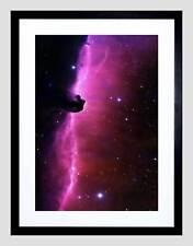 SPACE NEBULA HORSEHEAD GAS CLOUD STAR BLACK FRAMED ART PRINT PICTURE B12X4828