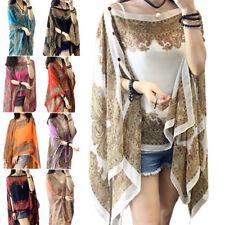 Large Size Womens Irregular Sunscreen Coat Neck Scarf Shawl Cape Chic Hot