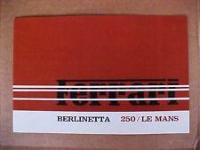 Ferrari 250 LE MANS Brochure Berlinetta Sales Brochure OEM