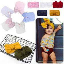 Newborn Baby Boy Girl Elastic Striped Beanie Hat Cap Headband Wrap Cotton Turban