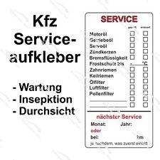 Serviceaufkleber für Kfz- Wartung / Inspektion - 51 x 102 mm