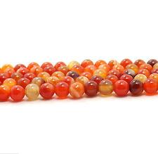 15.5'' 4mm 6mm 8mm 10mm 12mm Natural Orange Carnelian Agate Gemstone Stone Beads