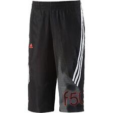 Originale Adidas bambini F50 Pantaloni 3/4 Pantaloncini Bermuda sportivi Nero