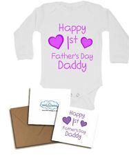 Joyeux premier père du jour à manches longues bébé gilets pour filles cool vêtements bébé