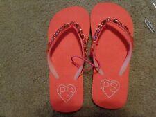 aeropostale kids ps girls' gemstone flip flops Radiant Coral