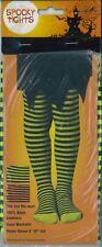 Ladies Women's Spooky Stripe Tights Ogre Witch Fancy Dress Accessories