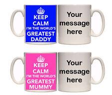 WORLD'S GREATEST RELATIVES TWIN MUGS(R4) MUM DAD GRANDAD GRANDMA NAN MUMMY DADDY
