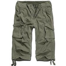 Brandit Homme Urban Legend Pantalon Cargo 3/4 longueur – Bermuda Militaire Vert