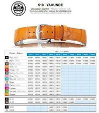ZRC 519 Vera Pelle anallergico Artigianale Cinturino Orologio Francia 22mm 30mm