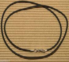 Kautschukkette nach Mass 2mm Kautschukband Kautschuk Halsband Kette silber 55 ES