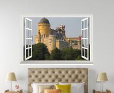 3D Castillo Sky 036 ventanas abiertas impresión de pared de papel pintado wandbilder AJ Jenny