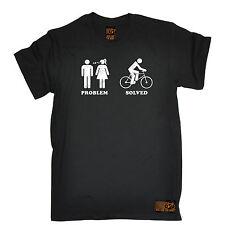 Problema resuelto Ciclismo Camiseta Top ciclo Jersey Chiste Gracioso Cumpleaños Regalo de Moda