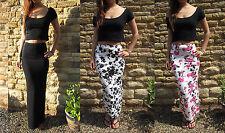 LONG EXTRA LONG Womens TALL Jersey Skirt MAXI Length Size 8 10 12 14 16 18 20