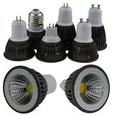 Dimmable LED COB Spot Light E27 GU10 GU5.3 MR16 6W 9W Bulb Lamp White 220V 12V