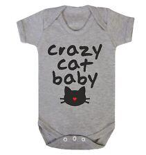 Crazy Cat Baby Babygrow Animal Lovers Funny Kitten Feline