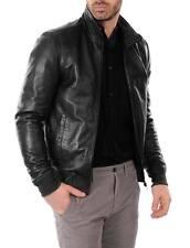 DE Herren Lederjacke Biker Men's Leather Jacket Coat Homme Veste En cuir R121c