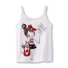 Toughskins White Americana Cami Tank Top Shirt Toddler Little Girls 18M, 2T, 3T