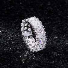 925 Silver Jewelry Heart Cut White Sapphire Women Wedding Ring Size 6-10