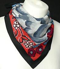 hochwertiges Damen Tuch Nickituch 100% Seide blau rot grau schwarz weiß  227