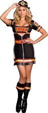 Smokin' Hot Fire Dept Women's Adult Costume Sexy Black Fancy Dress Dream Girl