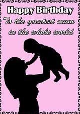Mother & Child le madri giorno personalizzata greeting card pid341 MAMMA MAMMA AMORE