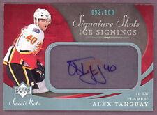 07-08 UD SIGNATURE SHOTS ICE SIGNING ALEX TANGUAY #/100